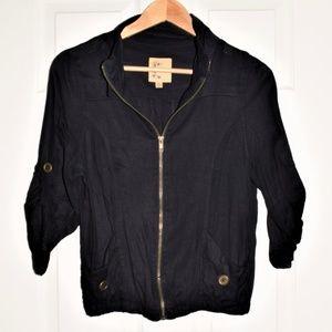 Cute!! Black Cropped 3/4 Sleeve Jacket! Size Large